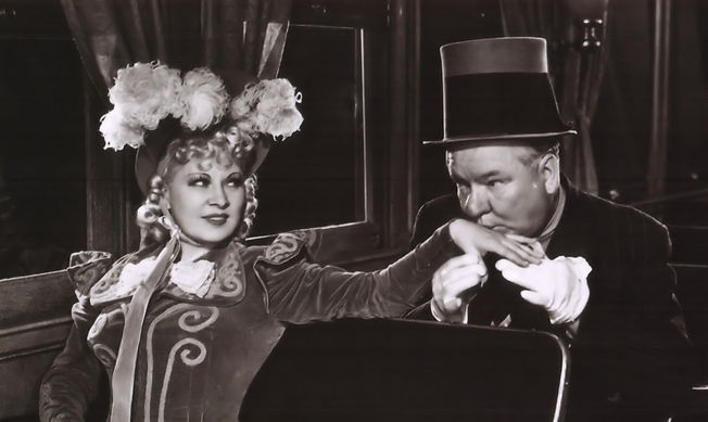 "Mae West and W.C. Fields in 1940's ""My Little Chickadee."""
