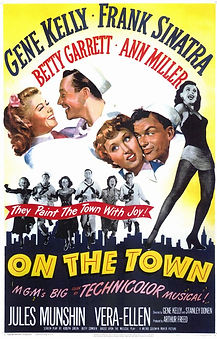 "Movie poster for 1949's ""On the Town."""