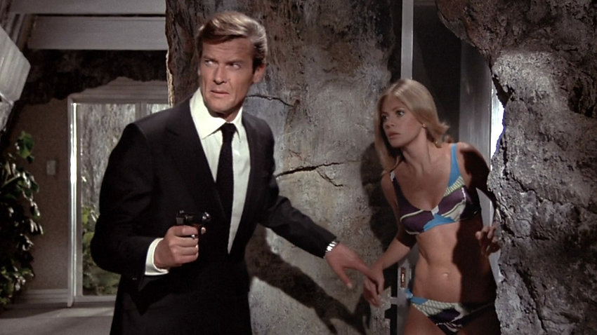 "Movie still from 1974's ""The Man with the Golden Gun."""