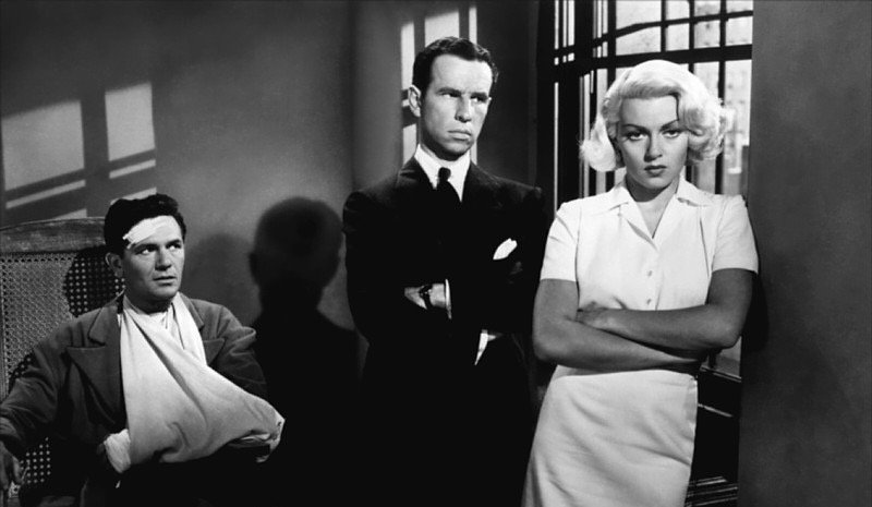 "Movie still from 1946's ""The Postman Always Rings Twice."""