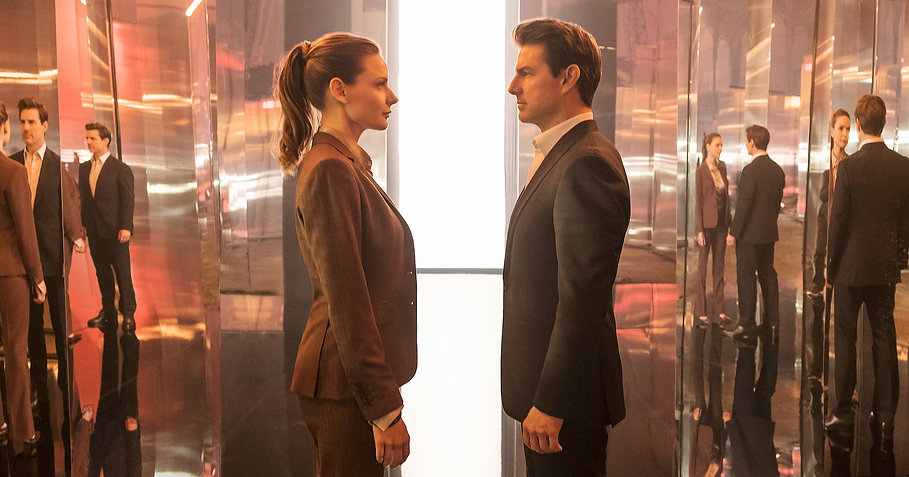 "Rebecca Ferguson and Tom Cruise in 2018's ""Mission: Impossible — Fallout."""