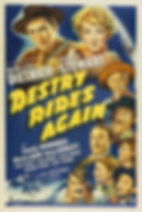 "Movie poster for 1939's ""Destry Rides Again."""