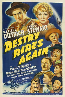 """Movie poster for 1939's """"Destry Rides Again."""""""