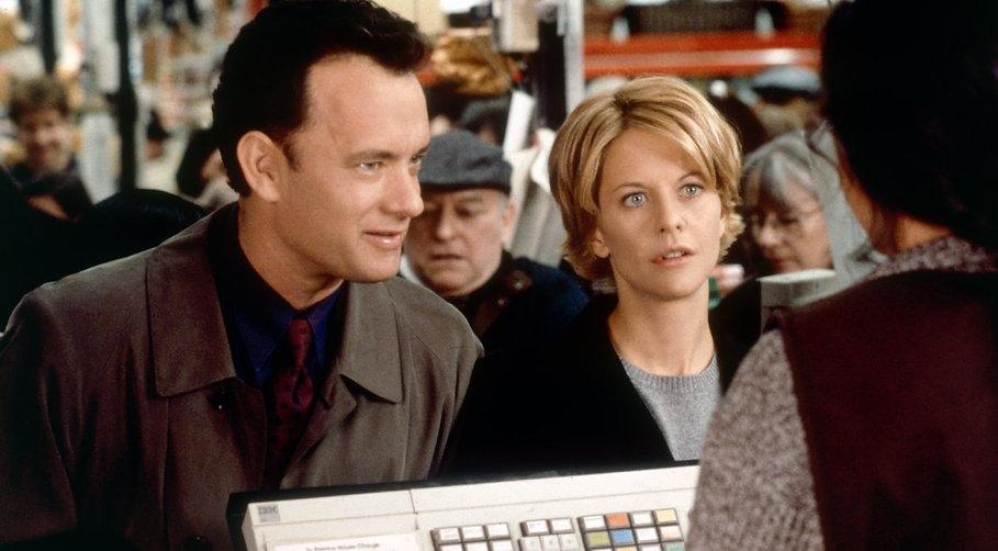 "Tom Hanks and Meg Ryan in 1998's ""You've Got Mail."""