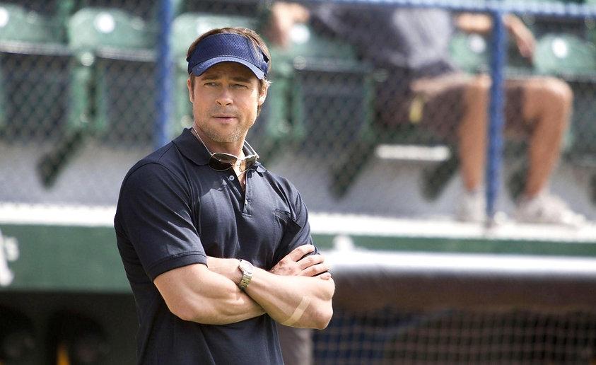 "Brad Pitt in 2011's ""Moneyball."""