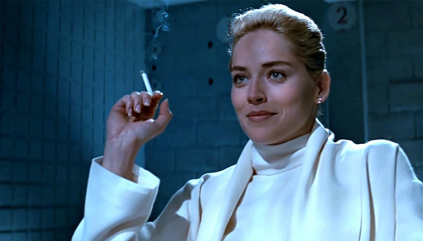 "Movie still from 1992's ""Basic Instinct""."