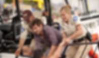 """Adam Scott and Elisabeth Shue in 2010's """"Piranha 3D."""""""