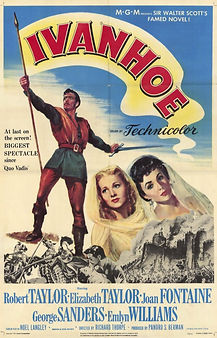 "Movie poster for 1952's ""Ivanhoe."""