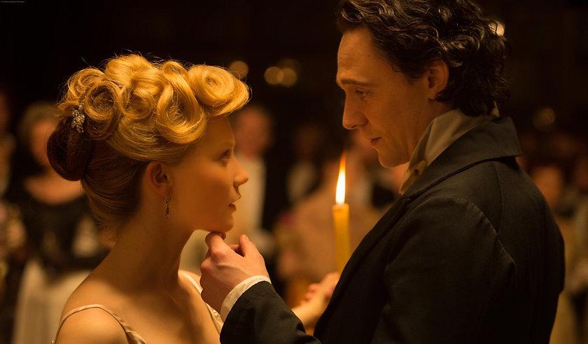 """Tom Hiddleston and Mia Wasikowska in 2015's """"Crimson Peak."""""""