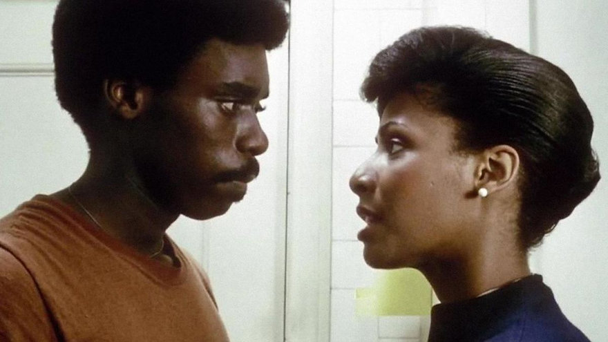 "Everett Silas and Gaye Shannon-Burnett in 1983's ""My Brother's Wedding."""