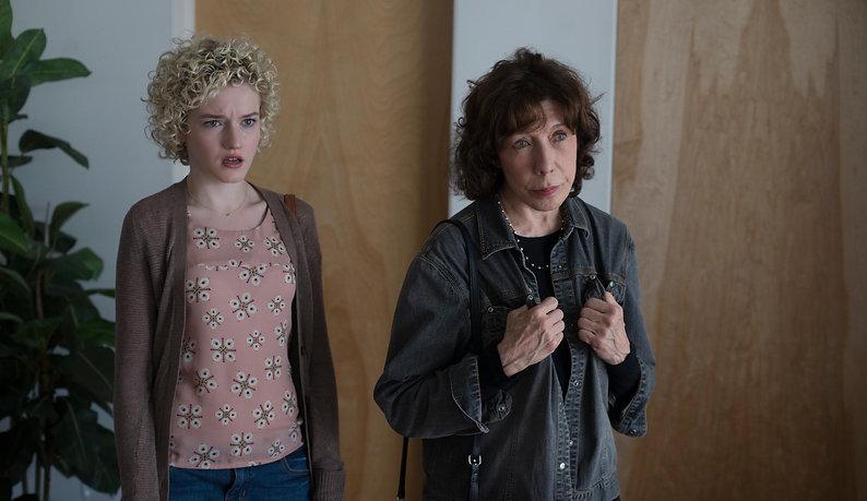 "Julia Garner and Lily Tomlin in 2015's ""Grandma."""