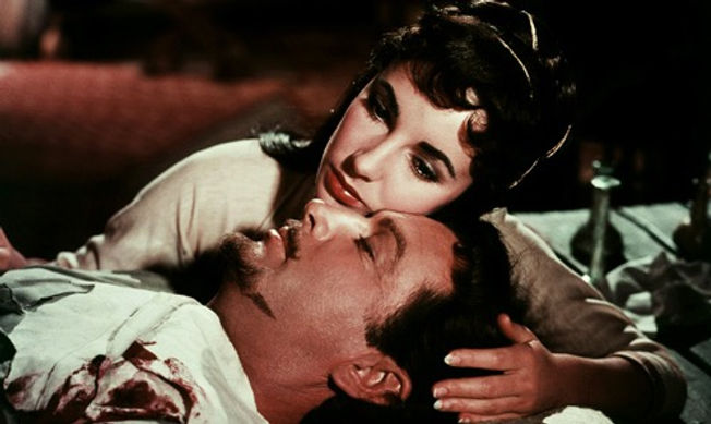 "Elizabeth Taylor and Robert Taylor in 1952's ""Ivanhoe."""