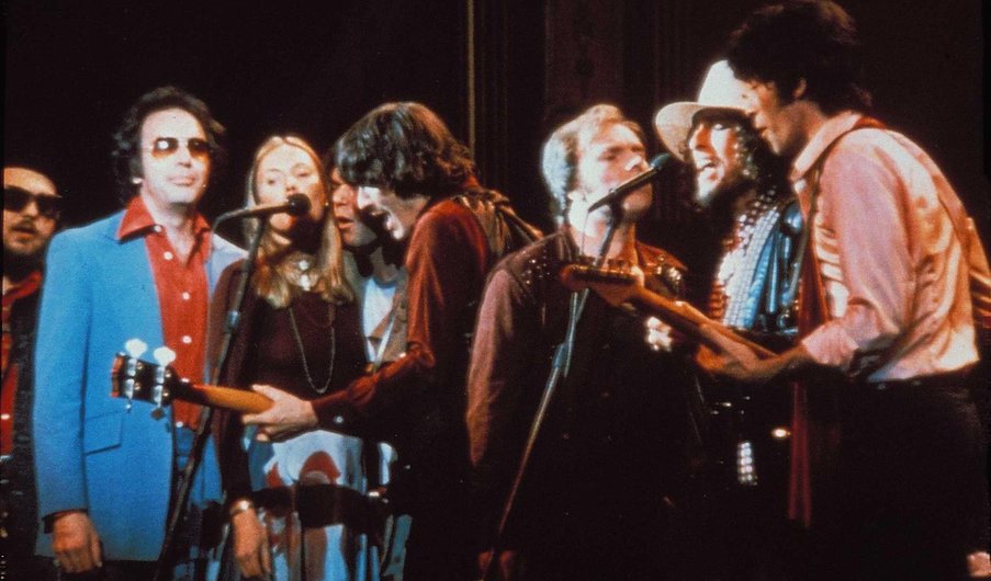 "Movie still from 1978's ""The Last Waltz."""