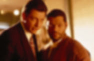 "Jeff Goldblum and Laurence Fishburne in 1992's ""Deep Cover."""