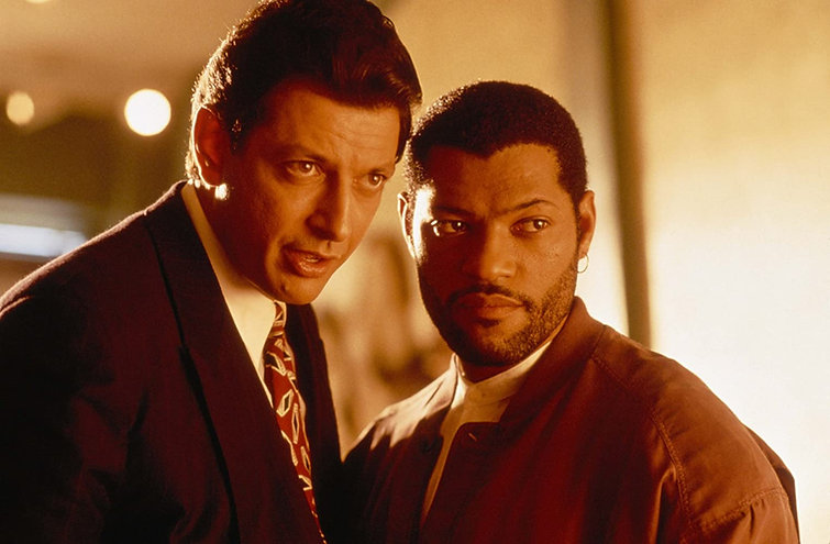 """Jeff Goldblum and Laurence Fishburne in 1992's """"Deep Cover."""""""