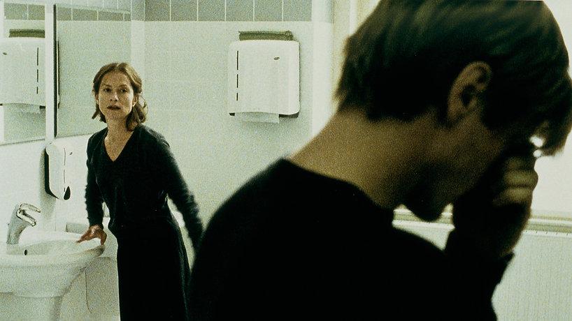 "Movie still from 2001's ""The Piano Teacher."""