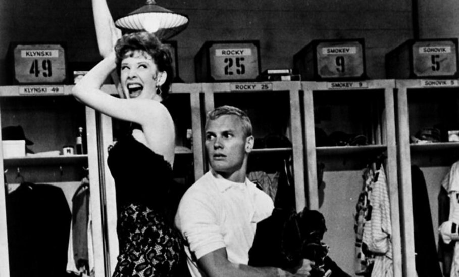 "Gwen Verdon and Tab Hunter in 1958's ""Damn Yankees."""