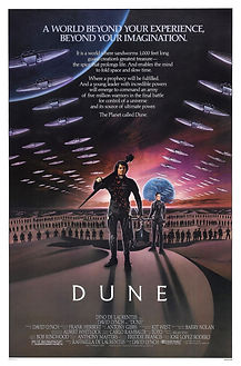 "Movie poster for 1984's ""Dune""."
