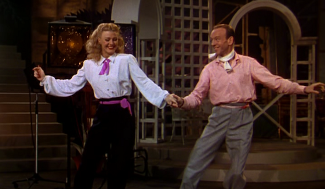 """Ginger Rogers and Fred Astaire in 1949's """"The Barkleys of Broadway."""""""