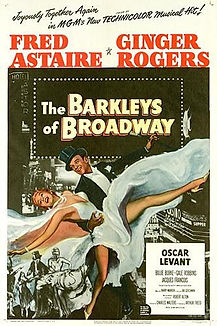 """Movie poster for 1949's """"The Barkleys of Broadway."""""""