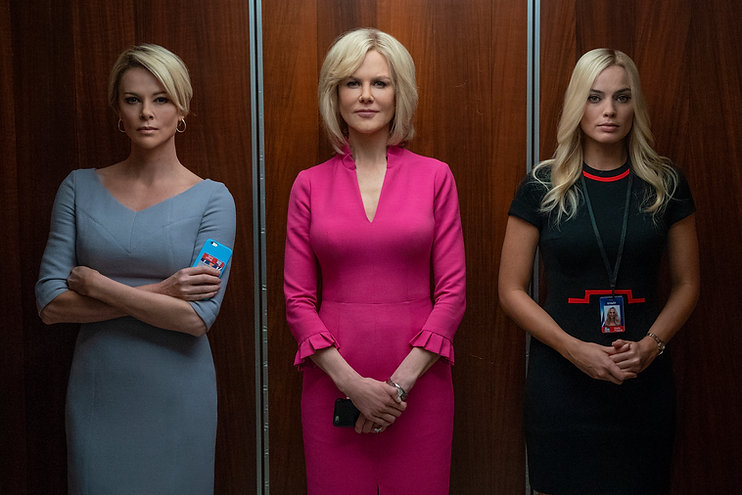"""Charlize Theron, Nicole Kidman, and Margot Robbie in 2019's """"Bombshell."""""""