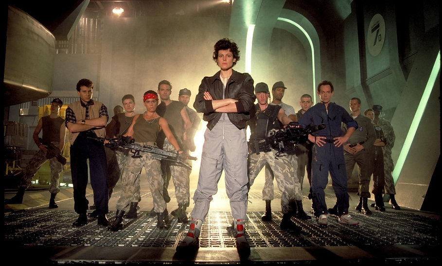 "Promotional photograph for 1986's ""Aliens."""