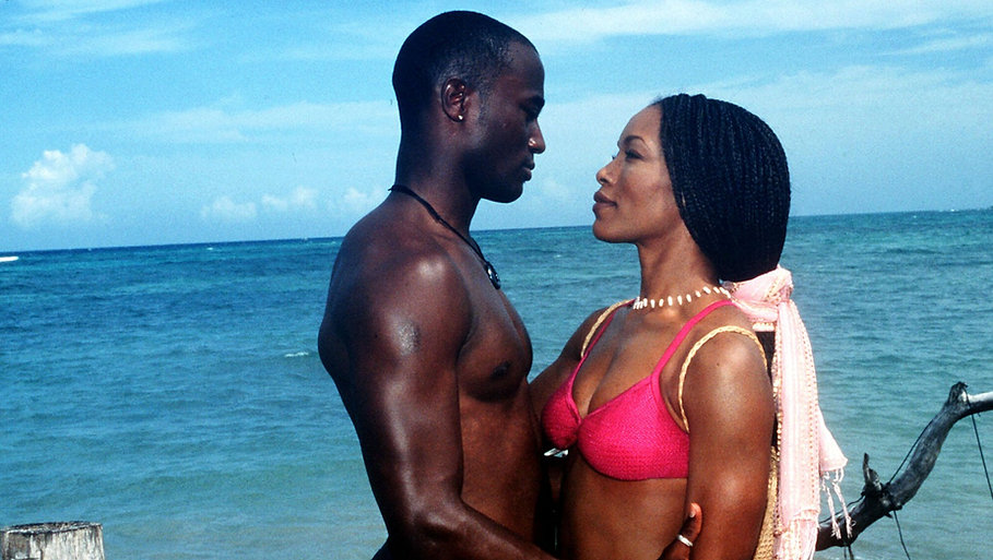 """Taye Diggs and Angela Bassett in 1998's """"How Stella Got Her Groove Back."""""""