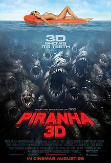 "Movie poster for 2010's ""Piranha 3D."""