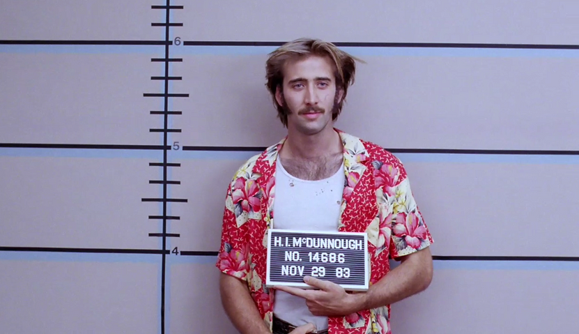 "Movie still from 1987's ""Raising Arizona."""