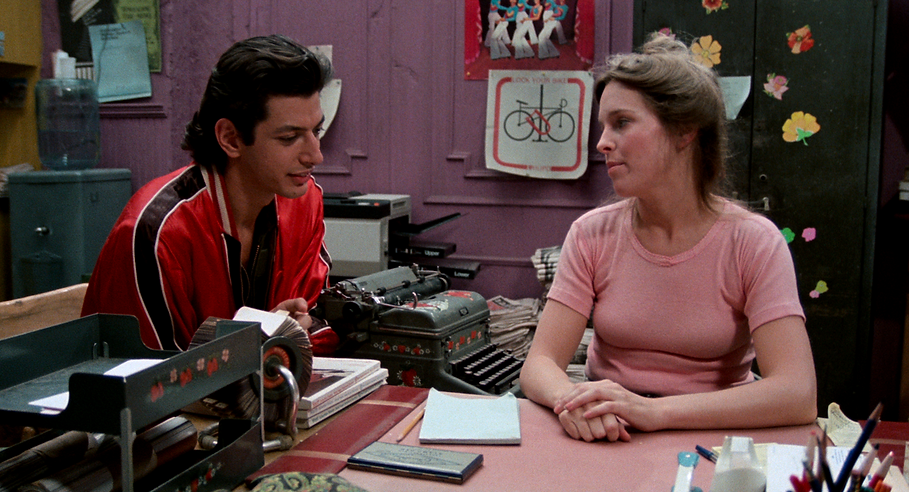 """Jeff Goldblum and Jill Eikenberry in 1977's """"Between the Lines."""""""