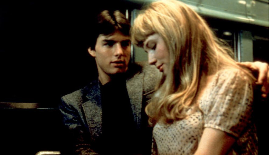 """Tom Cruise and Rebecca De Mornay in 1983's """"Risky Business."""""""