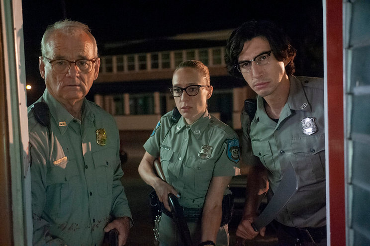"""Bill Murray, Chloë Sevigny, and Adam Driver in 2019's """"The Dead Don't Die."""""""