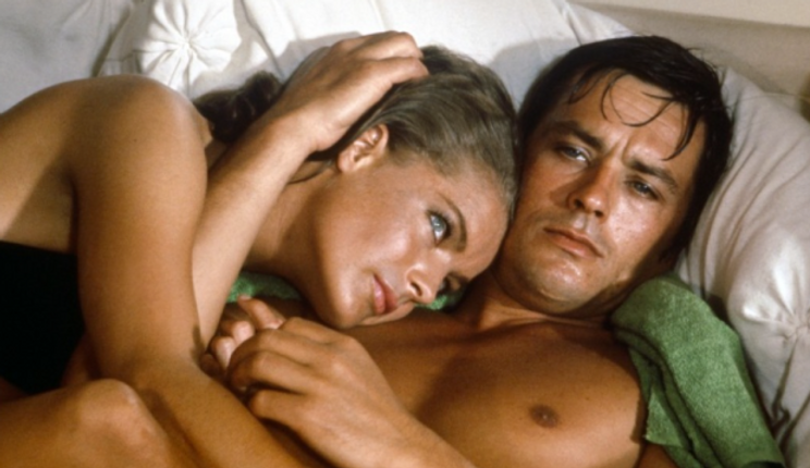 "Romy Schneider and Alain Delon in 1969's ""The Swimming Pool."""