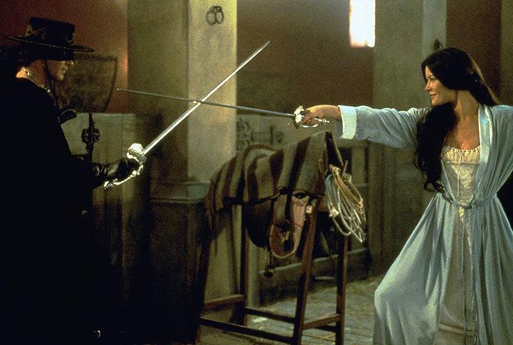 """Antonio Banderas and Catherine Zeta-Jones in 1998's """"The Mask of Zorro."""""""