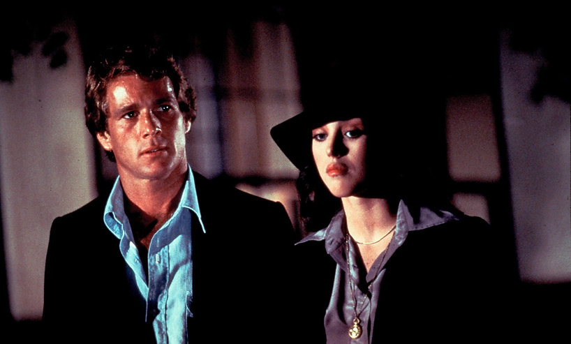 "Ryan O'Neal and Isabelle Adjani in 1978's ""The Driver."""