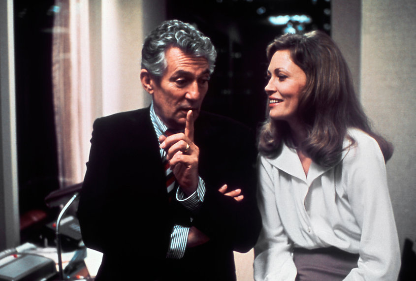 """Peter Finch and Faye Dunaway in 1976's """"Network."""""""