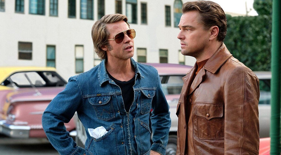 """Brad Pitt and Leonardo DiCaprio in 2019's """"Once Upon a Time in Hollywood."""""""