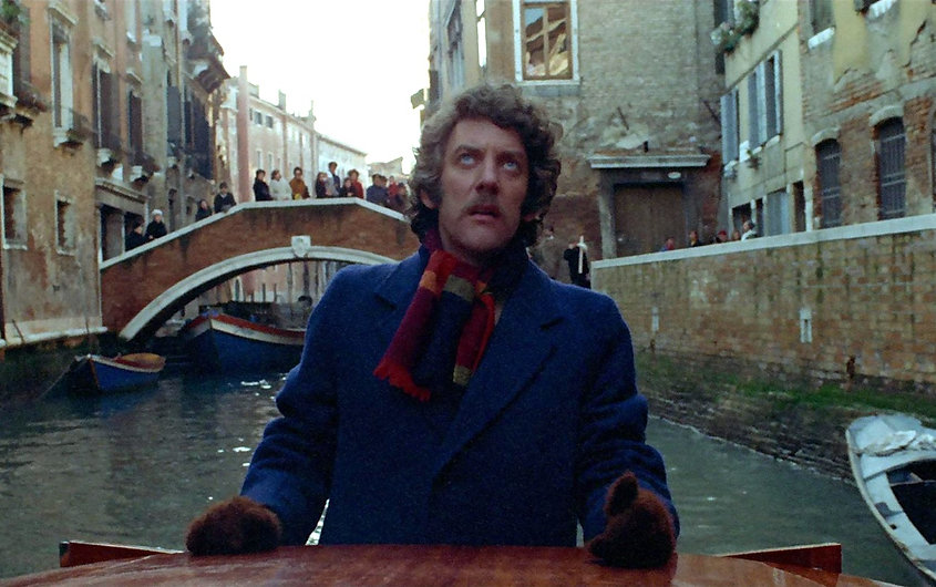 "Donald Sutherland in 1973's ""Don't Look Now."""