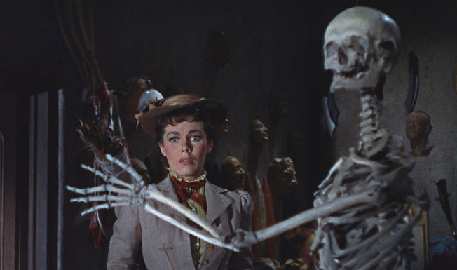 "Movie still from 1953's ""House of Wax."""