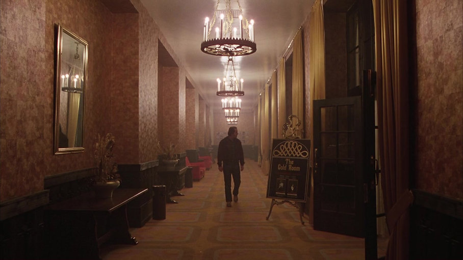 """Jack Nicholson wanders the halls of the Overlook Hotel in 1980's seminal """"The Shining."""""""