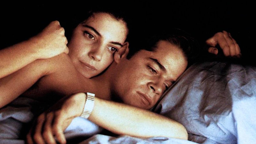 "Marbiel Verdú and Jorge Sanz in 1991's ""Amantes."""