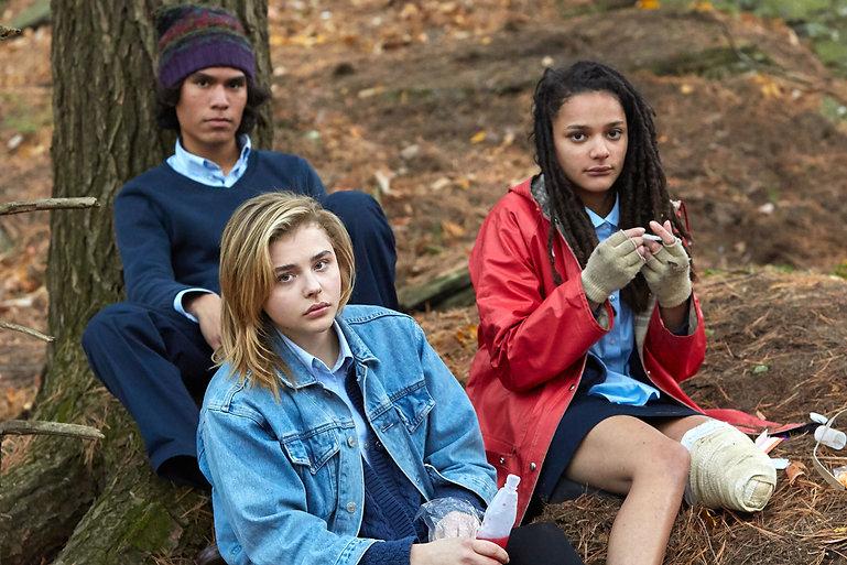 "Forrest Goodluck, Chloë Grace Moretz, and Sasha Lane in 2018's ""The Miseducation of Cameron Post."""