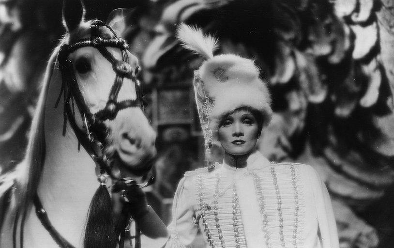 "Movie still from 1934's ""The Scarlet Empress""."