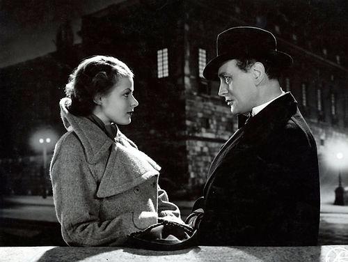 "Ingrid Bergman and Gösta Ekman in 1936's ""Intermezzo."""