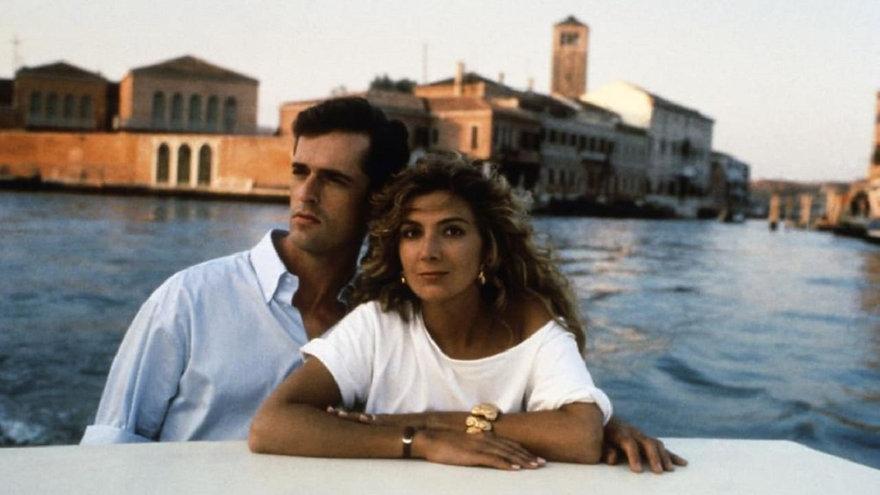 "Rupert Everett and Natasha Richardson in 1990's ""The Company of Strangers."""
