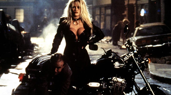 """Movie still from 1996's """"Barb Wire."""""""