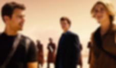 "Theo James, Ansel Elgort, and Shailene Woodley in 2016's ""Allegiant."""