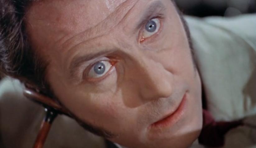 "Movie still from 1957's ""The Curse of Frankenstein."""