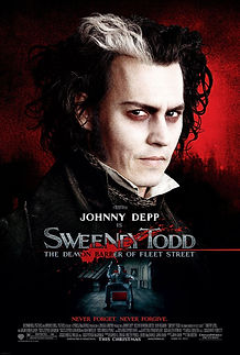 "Movie poster for 2007's ""Sweeney Todd: The Demon Barber of Fleet Street."""