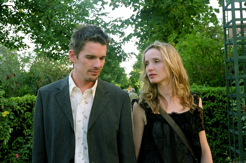 "Ethan Hawke and Julie Delpy in 1995's ""Before Sunrise."""